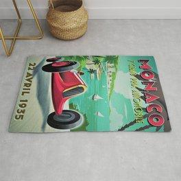 Vintage Monaco 7th Grand Prix Automobile Race 22 April 1935 Advertisement Poster Rug