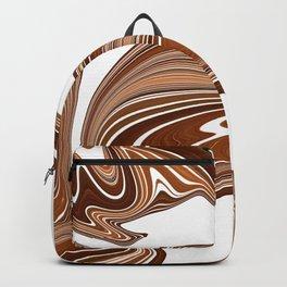 Bold Copper Agate Stone Effect Design Backpack