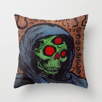 occult Throw Pillows featuring Occult Macabre by Chris Moet