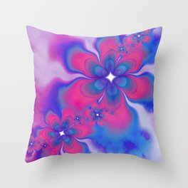 Fleurs Fête Fractal Throw Pillow