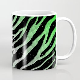 Ripped SpaceTime Stripes - Green/White Coffee Mug