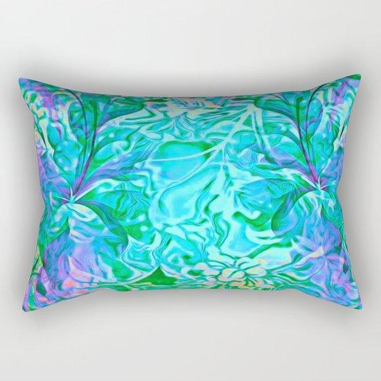 Tropical Breeze Floral Abstract Rectangular Pillow