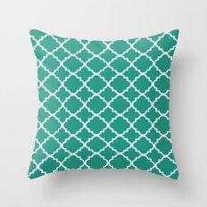 Moroccan Jade Throw Pillow