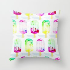 Popsicle Frenzy #society6 #decor #buyart Throw Pillow
