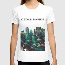 Cedar Rapids Skyline T-shirt