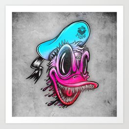 Demon Duck Art Print
