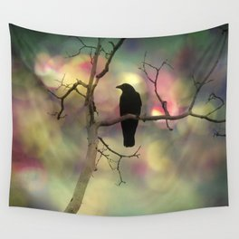Crow Dreams In Colors Wall Tapestry