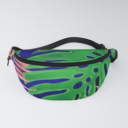 Plant green and coral Fanny Pack
