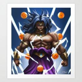 Dragon Ball blue Art Print