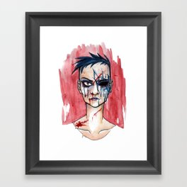 we are lost - blue Framed Art Print