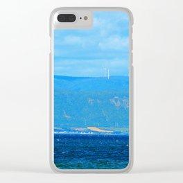 Coastal Wind Farm Clear iPhone Case