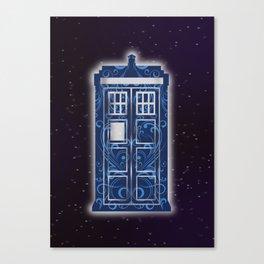 Filigree TARDIS Canvas Print