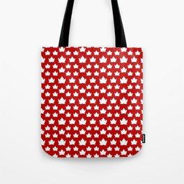 Cute Canada Flag Pattern Tote Bag