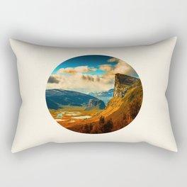 Orange Cliff Blue Sky Rectangular Pillow