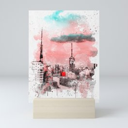 Sao Paulo - WaterColor 003D Mini Art Print