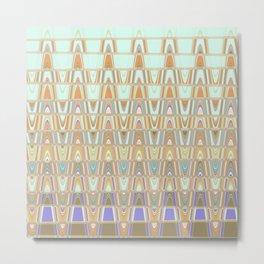 Zentangle Brown Metal Print