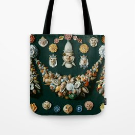 "Jan van Kessel de Oude ""Festoon, masks and rosettes made of shells"" Tote Bag"
