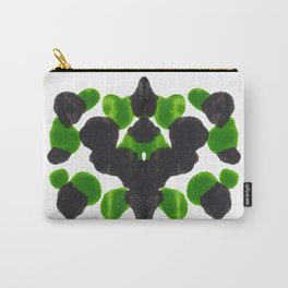 Lime Green & Black Ink Blot Pattern Carry-All Pouch
