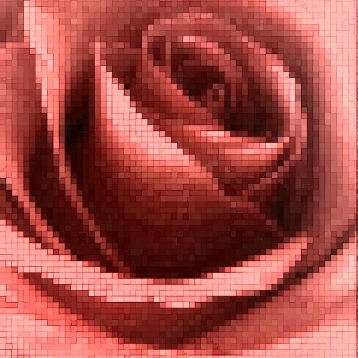 Rosy mosaic Duvet Cover