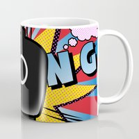 comics Mugs featuring gun comics  by mark ashkenazi