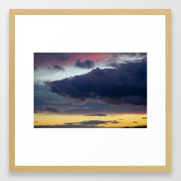 Clouds painted with separation Framed Art Print