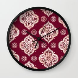 Floral Medallion Pattern Wall Clock