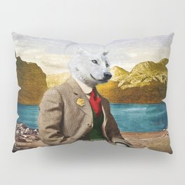 Mr. Wolf Relaxing at the Lake Pillow Sham