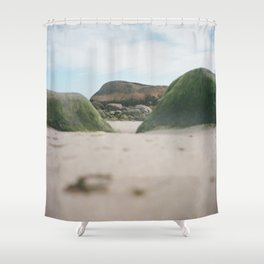 Mossy Rocks Shower Curtain