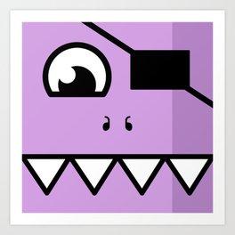 Monsters⁴ : Purple Art Print