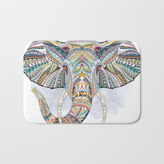 Colorful Ethnic Elephant Bath Mat