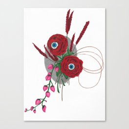 Lovely Looking Roses - Halloween Canvas Print