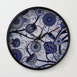 Denim Blues Wall Clock