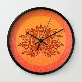 Lotus Flower of Life Meditation  Art Wall Clock