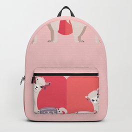 Llama and Alpaca with love Backpack