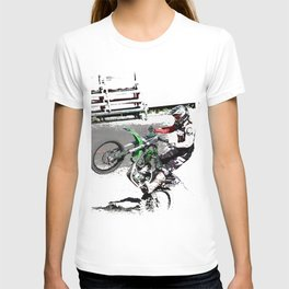 Making a Stand - Freestyle Motocross Rider T-shirt