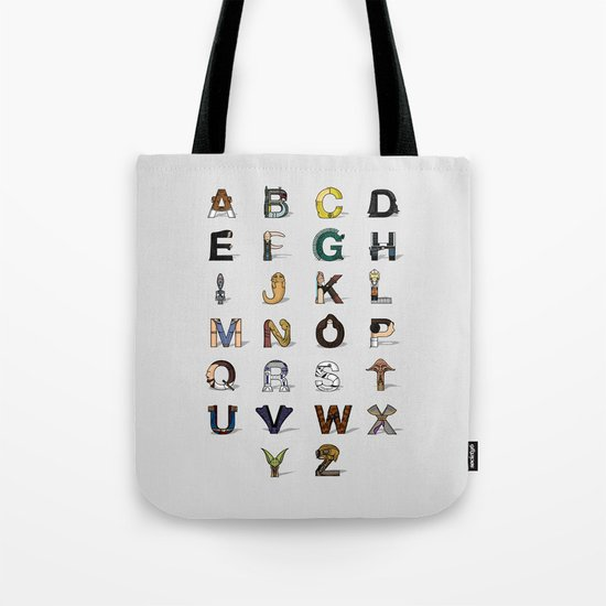 Star W. alphabet Tote Bag