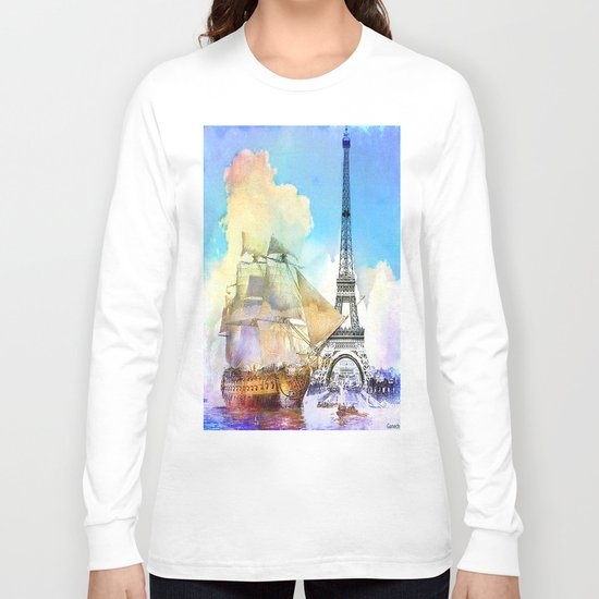 The boarding of the Eiffel Tower Long Sleeve T-shirt