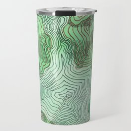 Green Blobs Travel Mug