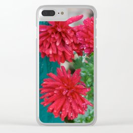 Flowers in the Fence Clear iPhone Case