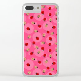 Dot Ladybugs - Rouge & Taffy Pink Color Clear iPhone Case