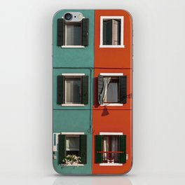 Burano colorful houses // lifestyle and traveling photography iPhone Skin
