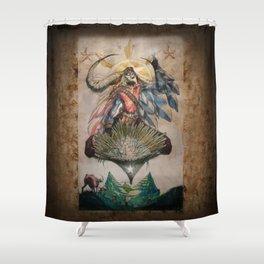 The Rice Farmer Shower Curtain