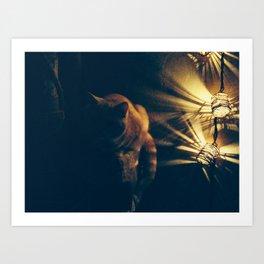 Evening Chat  Art Print
