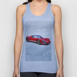 Watercolor painting of a supercar Unisex Tank Top