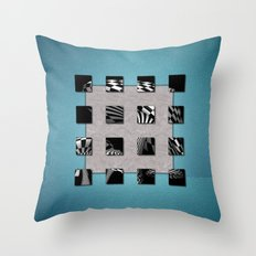 SQUARE AMBIENCE - Blue Sports Throw Pillow
