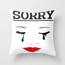 Sorry Throw Pillow