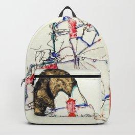 Egon Schiele - Woman lying on her back Backpack