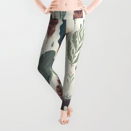 Forest Fall Pattern Leggings