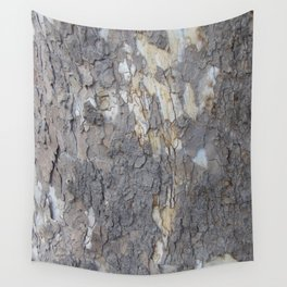 brown sycamore bark Wall Tapestry