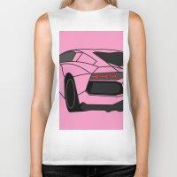 lamborghini Biker Tanks featuring Lamborghini Aventador by societystar